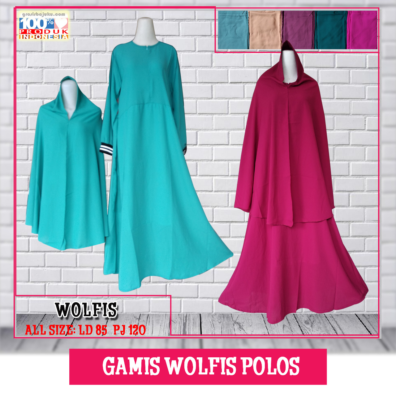 Gamis Wolfis Polos