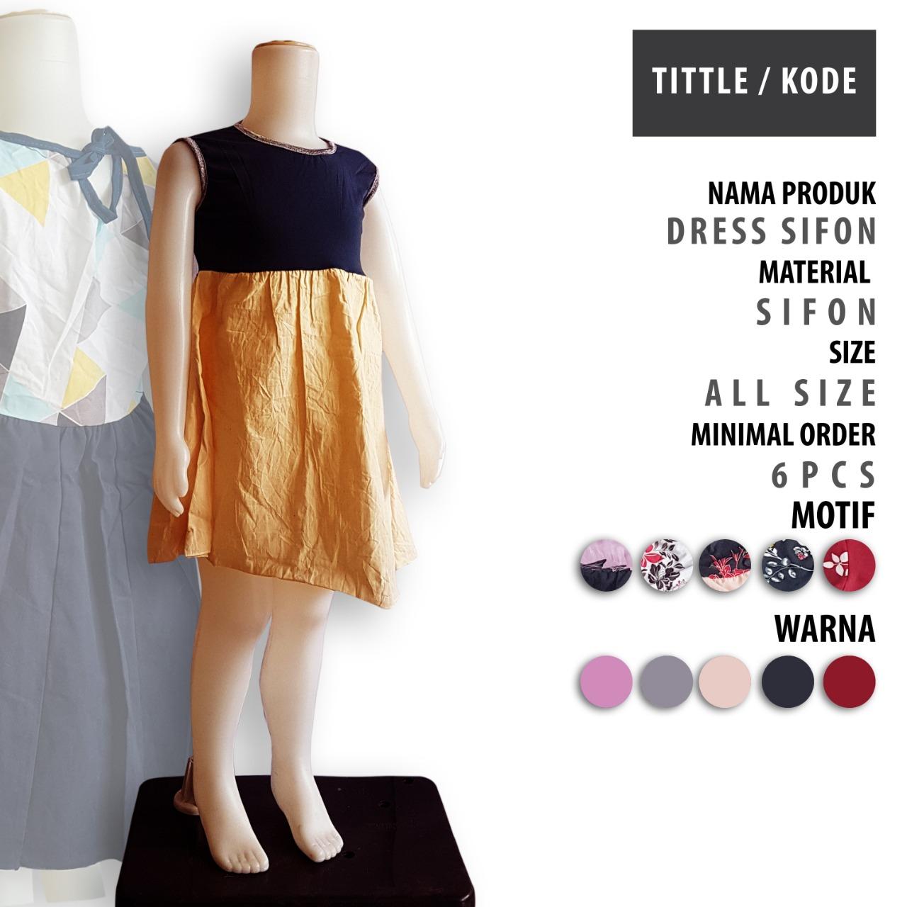 Dress Sifon Anak