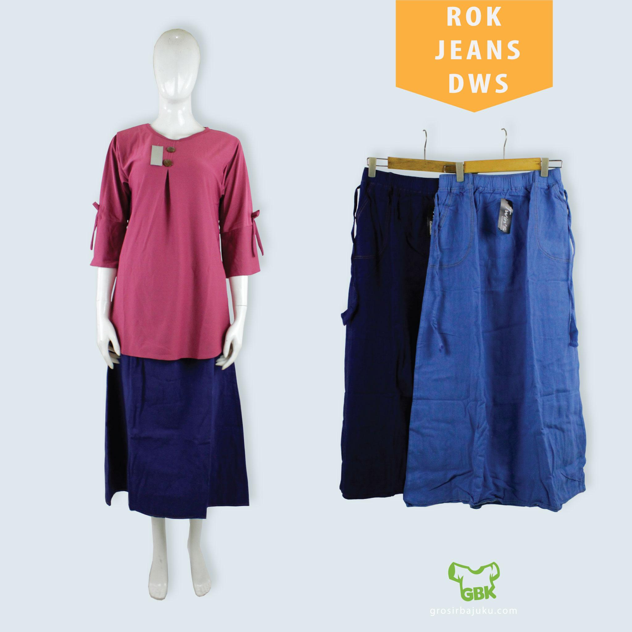 Rok Jeans Dewasa Murah